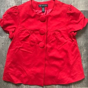 INC red short sleeve jacket
